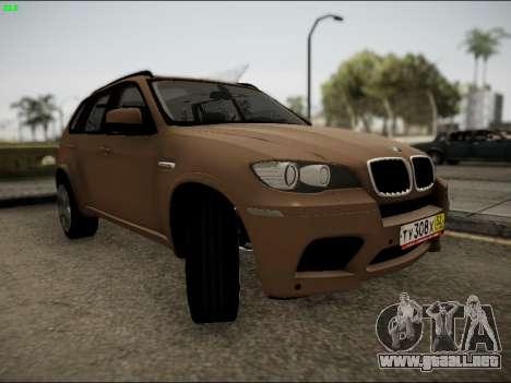 BMW X5M para GTA San Andreas vista hacia atrás
