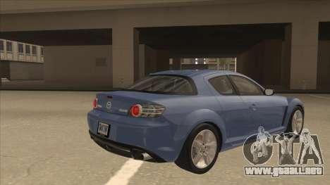 Mazda RX8 Tunable para la visión correcta GTA San Andreas