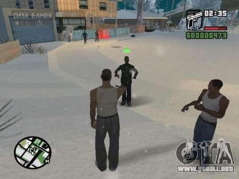 Conmutación entre personajes como GTA V para GTA San Andreas quinta pantalla