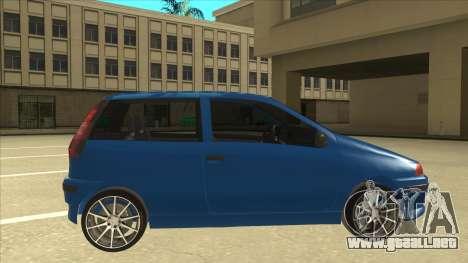 Fiat Punto MK1 Tuning para GTA San Andreas vista posterior izquierda