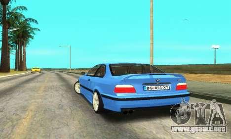 BMW M3 (E36) para GTA San Andreas vista posterior izquierda