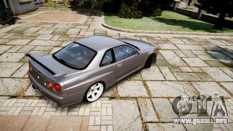 Nissan Skyline GTR-34 v1.0 para GTA 4 visión correcta