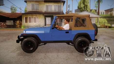 Jeep Wrangler V10 TT Black Revel para GTA San Andreas left