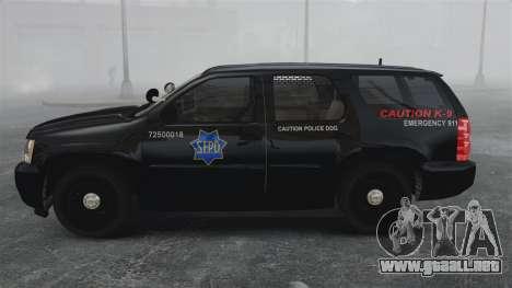 Chevrolet Tahoe 2010 PPV SFPD v1.4 [ELS] para GTA 4 left