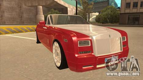 Rolls Royce Phantom Drophead Coupe 2013 para GTA San Andreas left