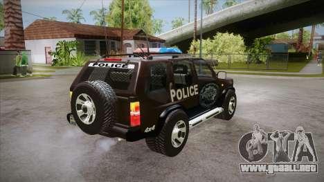 Nissan Terrano RB26DETT Police para la visión correcta GTA San Andreas