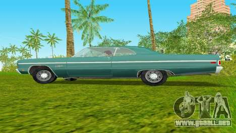 Plymouth Fury III 1969 Coupe para GTA Vice City vista posterior