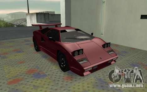 Lamborghini Countach LP5000 Extreme para GTA San Andreas left
