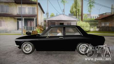 Datsun 510 RB26DETT Black Revel para GTA San Andreas left