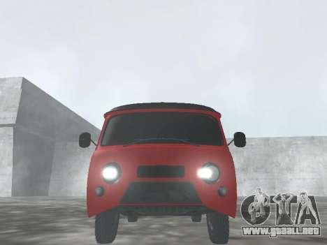 UAZ 22069 para GTA San Andreas vista hacia atrás