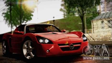 Opel Speedster Turbo 2004 para GTA San Andreas left