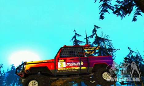 UAZ Hunter juicio para vista inferior GTA San Andreas