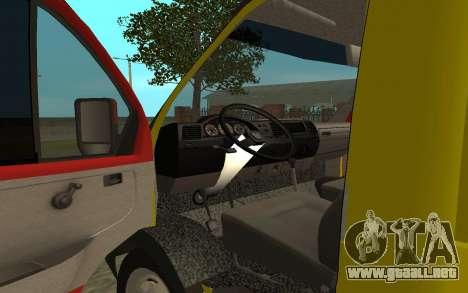 3302 Gacela grúa negocios para GTA San Andreas vista hacia atrás