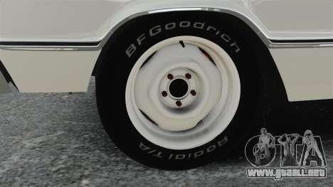 Dodge Coronet 440 1967 para GTA 4 vista hacia atrás