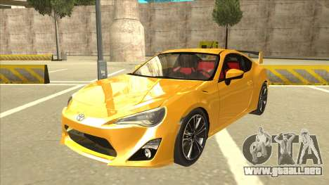 TOYOTA GT86 2JZ-GTE Black Revel para GTA San Andreas