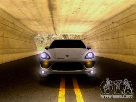 Porsche Cayenne Turbo S 2013 V1.0 para GTA San Andreas vista hacia atrás