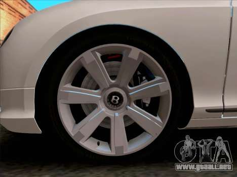 Bentley Continental GT Final 2011 para visión interna GTA San Andreas