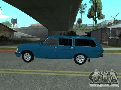 GAS 31022 para GTA San Andreas vista posterior izquierda