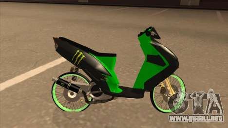 Yamaha Mio Soul 2 Monster Energy para GTA San Andreas left