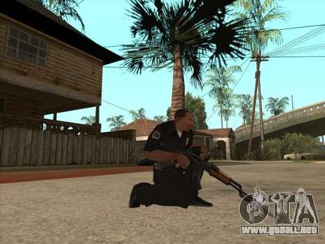 AKMS con bayoneta-cuchillo para GTA San Andreas segunda pantalla