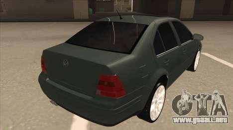 Jetta 2003 Version Normal para la visión correcta GTA San Andreas