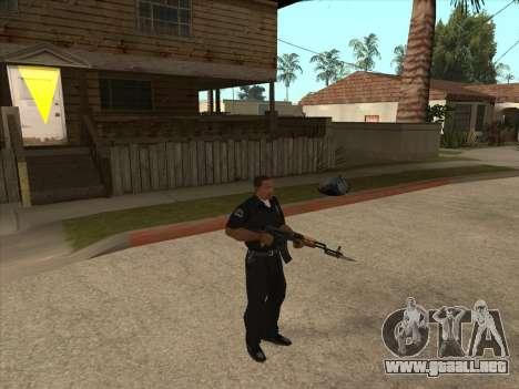 AKMS con bayoneta-cuchillo para GTA San Andreas