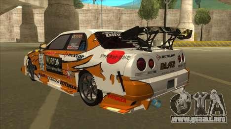 Nissan Skyline ER34 Uras GT Blitz 2010 para la visión correcta GTA San Andreas