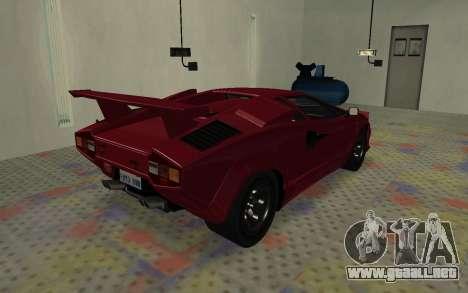Lamborghini Countach LP5000 Extreme para GTA San Andreas vista posterior izquierda