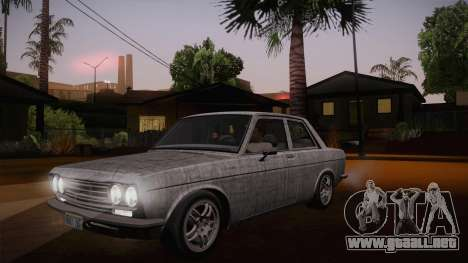 Datsun 510 RB26DETT Black Revel para vista inferior GTA San Andreas