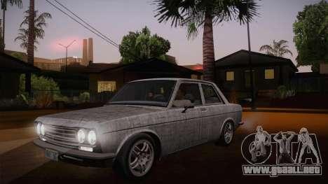 Datsun 510 RB26DETT Black Revel para vista inferior GTA San Andreas
