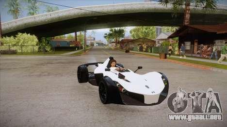 BAC Mono 2011 para GTA San Andreas vista hacia atrás