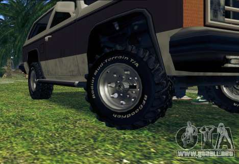 Rancher Bronco para GTA San Andreas interior