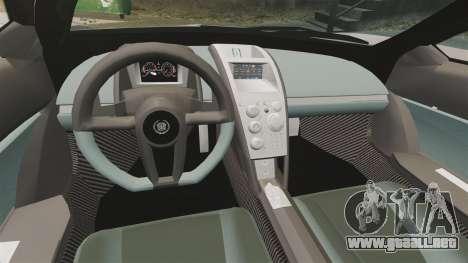 Cadillac Cien XV12 [EPM] para GTA 4 vista interior