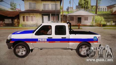 Ford Ranger 2011 Province of Buenos Aires Police para GTA San Andreas left