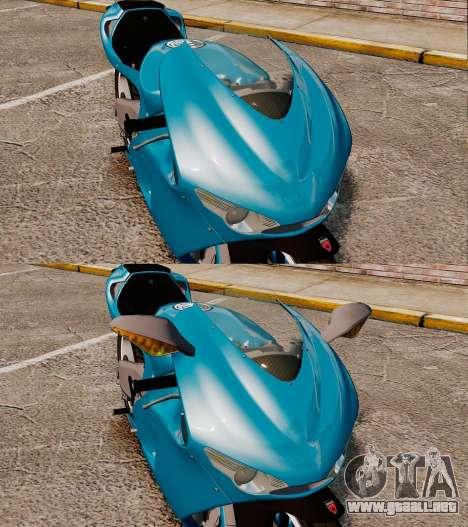 Ducati Desmosedici RR 2012 para GTA 4 vista hacia atrás