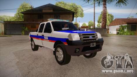 Ford Ranger 2011 Province of Buenos Aires Police para GTA San Andreas vista hacia atrás