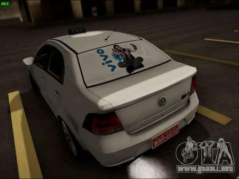 Volkswagen Voyage Taxi para GTA San Andreas vista posterior izquierda