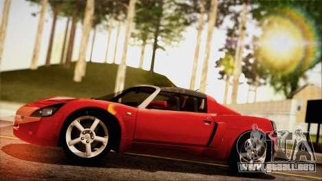 Opel Speedster Turbo 2004 para la visión correcta GTA San Andreas