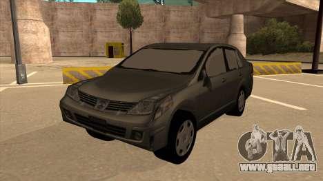 Nissan Tiida sedan para GTA San Andreas