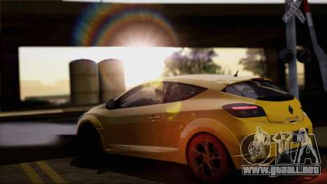 Renault Megane RS Tunable para GTA San Andreas interior