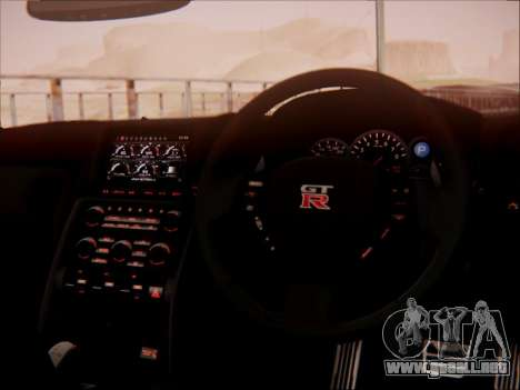 Nissan GT-R R35 Spec V 2010 para la vista superior GTA San Andreas