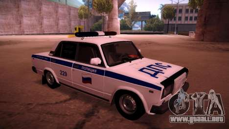VAZ 2107 policía DPS para GTA San Andreas left