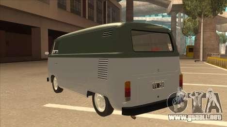 VW T2 Van para GTA San Andreas vista hacia atrás
