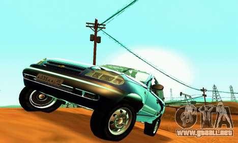 21236 Chevrolet Niva VAZ para visión interna GTA San Andreas