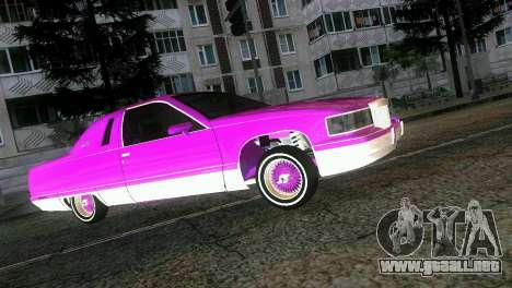 Cadillac Fleetwood Coupe para GTA Vice City vista interior