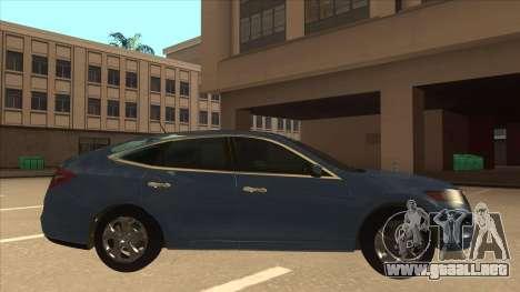 Honda Crosstour 2012 para GTA San Andreas vista posterior izquierda