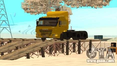 KAMAZ 65116 para la visión correcta GTA San Andreas