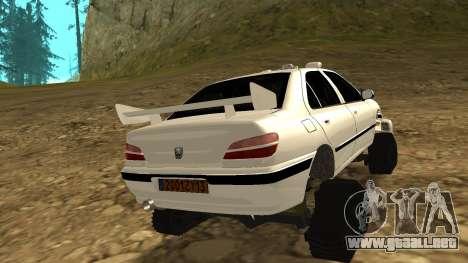 Peugeot 406 Grizzli para GTA San Andreas vista posterior izquierda