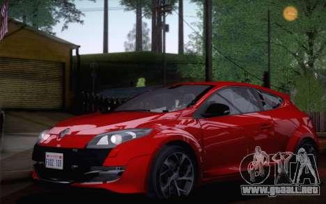 Renault Megane RS Tunable para GTA San Andreas vista posterior izquierda