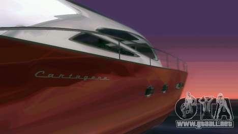 Cartagena Delight Luxury Yacht para GTA Vice City vista superior